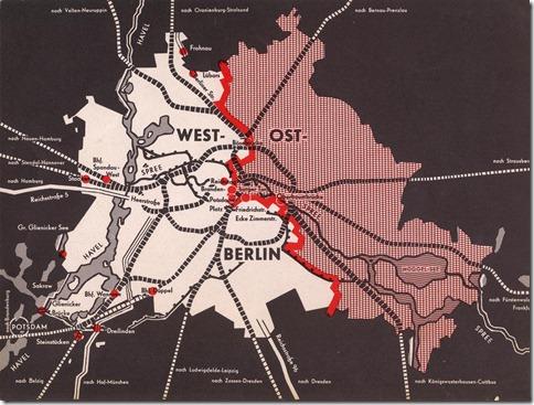 Verlauf der Grenze in Berlin - ab 1961 die Mauer