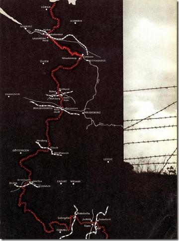 Verlauf der innerdeutschen Grenze