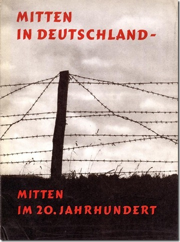 Titelbild der Propagandabroschüre 'Mitten in Deutschland-Mitten im 20. Jahrhundert'