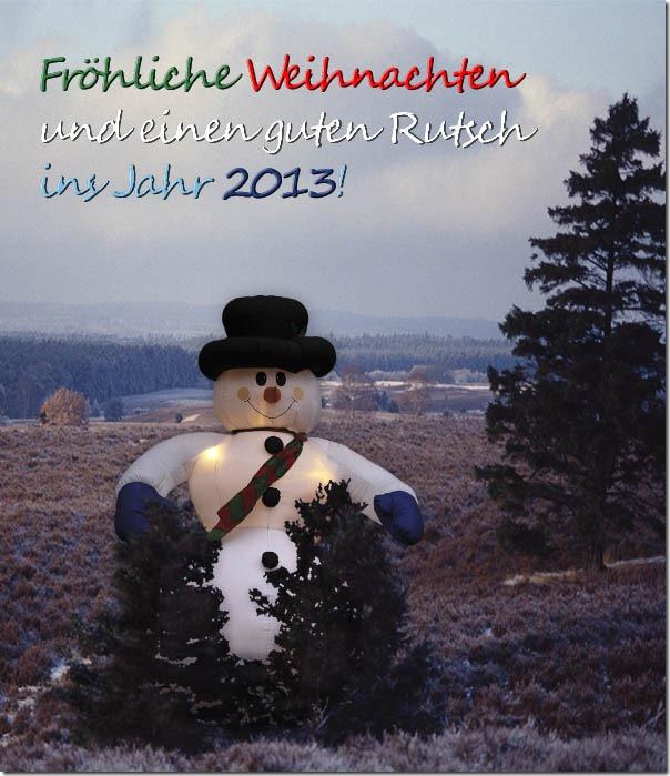 Fröhliche Weihnachten und einen guten Rutsch ins Jahr 2013