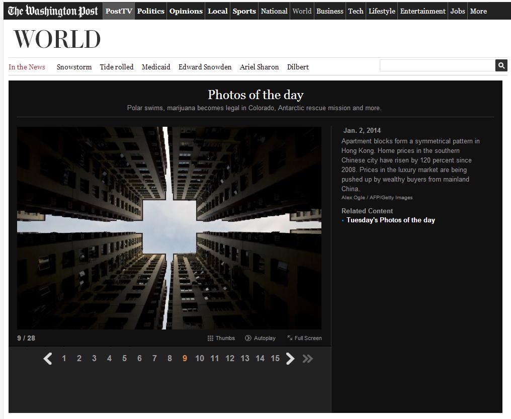 SPONs Augenblick-Foto vom 2. Januar 2014 einen tag vorher in der Washington Post - dort sauber beschriftet