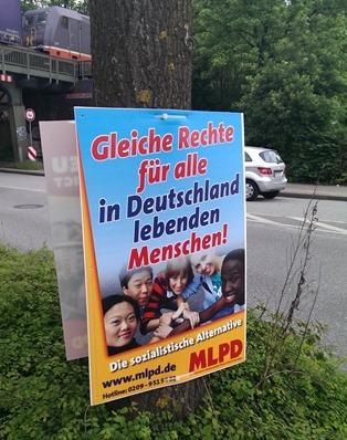 Die MLPD fordert #gleiche Rechte für alle in Deutschland lebenden Menschen'