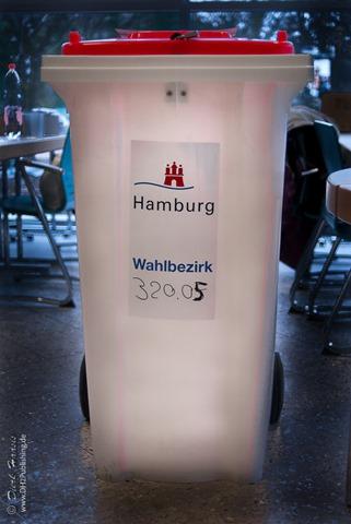 Wahlurne der Stadt Hamburg