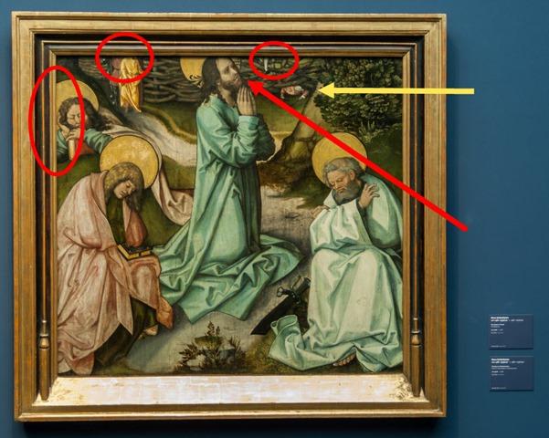 Hans Schäufelein, Christus Gethsemane [mit Markierung]