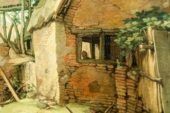 Abraham Bloemaert, Landschaft mit Gehöft: Figur in der Ruine