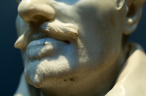 Gian Lorenzo Bernini, Büste Alessandro Peretti di Montalto [Detail Gesicht, Bartstoppeln]]