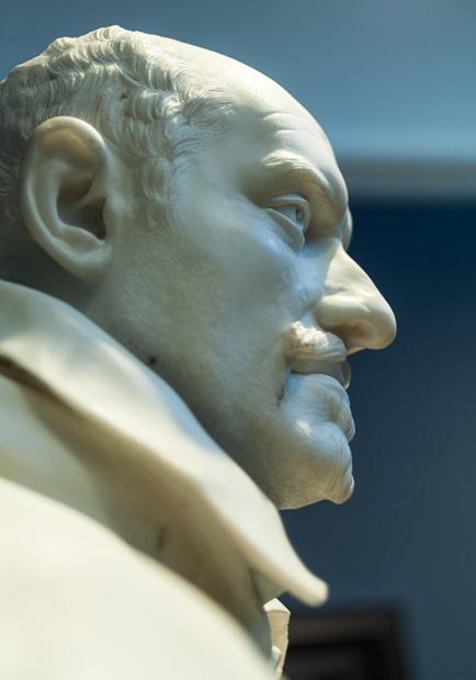 Gian Lorenzo Bernini, Büste Alessandro Peretti di Montalto [Profil von unten]