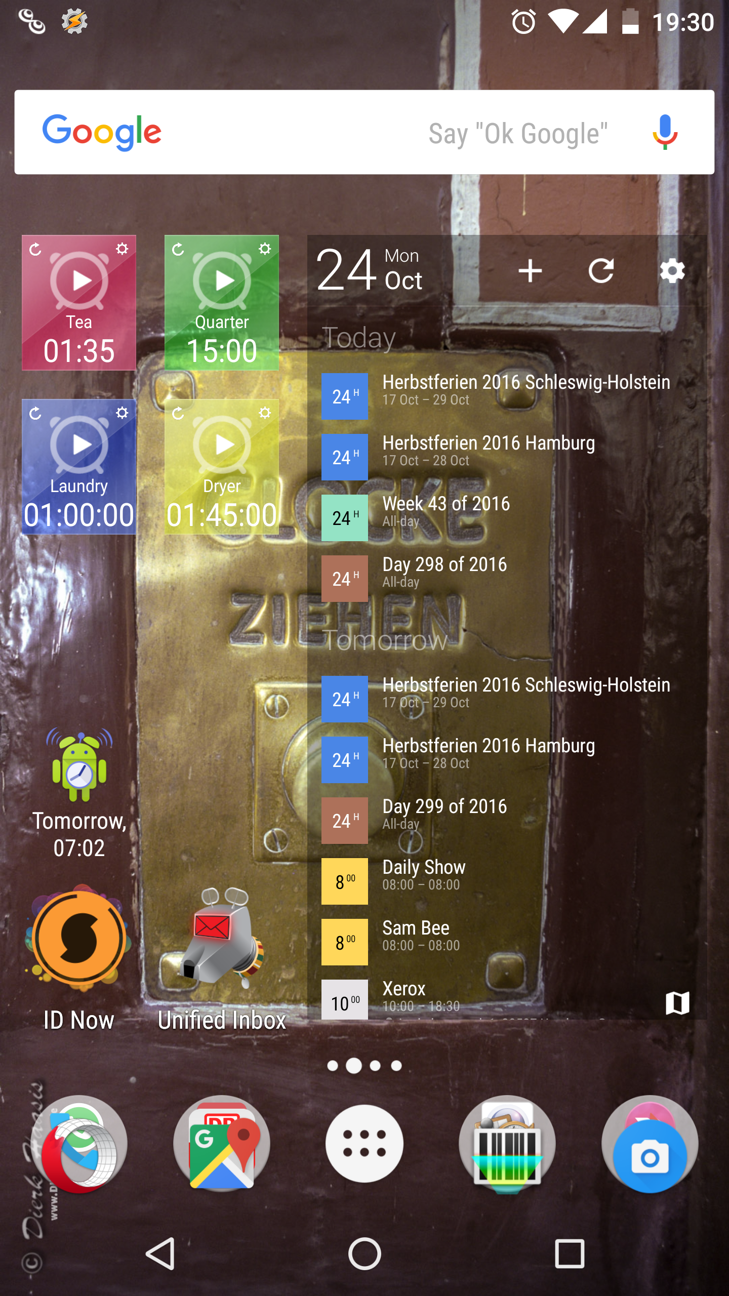Home Screen meines Nexus 6P