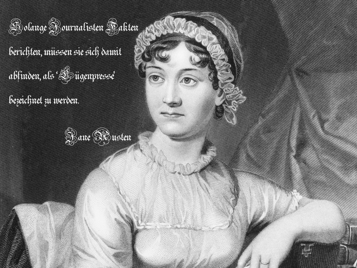 Fake: Jane Austen über Journalisten