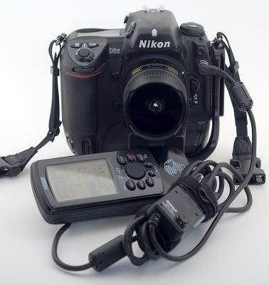 GPS-Gefummel an einer Nikon D2x